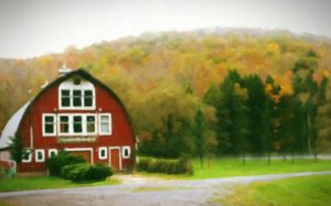 Barn-Wedding-Venue-Exterior-View-Painting
