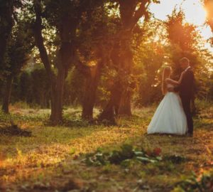 Bridal-couple-at-Barn-Wedding-Venue-Early-Fall